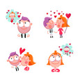 love people stickers set vector image