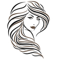 Beautiful young woman vector image