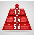 3d origami christmas tree vector image