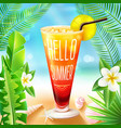Summer Design With Cocktail vector image vector image