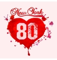 New York City Typography vector image