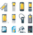 mobile phones icon set vector image