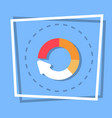 circle arrow diagram icon reload web button vector image