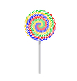 Colorful striped lollipop vector image