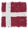 Flag of Denmark handmade square shape vector image