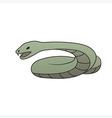 green cartoon snake vector image