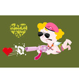 Happy Valentines day Army Valentine Military Cupid vector image