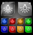 light bulb icon sign Set of ten colorful buttons vector image