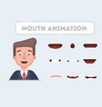 lip sync collection for animation vector image