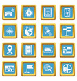 navigation icons azure vector image
