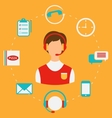 Order Pizza On-line Call Center Home delivery vector image