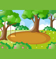 park scene with swing on the tree vector image