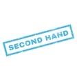Second Hand Rubber Stamp vector image