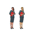 two female accountant african american and vector image