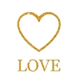 Valentines day golden glitter design element vector image