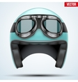 Vintage motorcycle helmet with goggles vector image