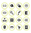 Set round icons of ophthalmology and optometry vector image