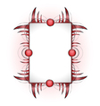 Abstract shape with frame vector image vector image