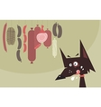 Drooling dog and sausages vector image