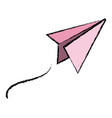paper airplane school success knowledge strategy vector image