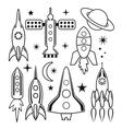 space symbols vector image vector image