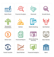 Personal Business Finance Icons Set 1 vector image vector image