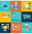 Car service car wash social media online shop vector image