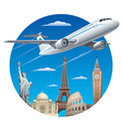 air travel concept vector image