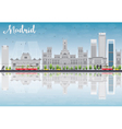 Madrid Skyline with grey buildings vector image