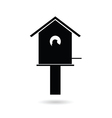 birdhouses black vector image