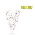 Absract colorful Polygonal Tornado vector image