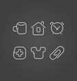 Home set icons draw effect vector image