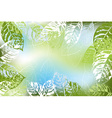 Green Leafy Spring Background vector image