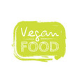 cartoon doodle hand drawn logotype sticker vegan vector image