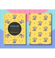 Cover template notebook brochure diary and vector image