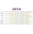 Horizontal calendar for year 2016 vector image