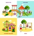 Playground Design Concept vector image