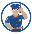 policeman talking on a vector image