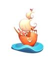 sail ship in sea vector image