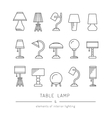 set table lamp vector image