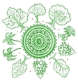 Vintage trees of life vector image