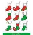 Christmas Socks Set vector image vector image