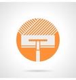 Orange round icon for floor insulation vector image