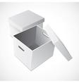 Open White Cardboard Carton Gift Box vector image