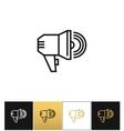 Announcement megaphone sign loudspeaker or vector image vector image