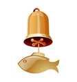 icon bell vector image