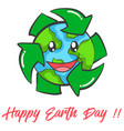 happy earth day design collection vector image