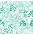 green tropical leaves summer hawaiian vector image