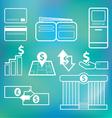 icon financial vector image