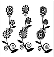 flower silhouettes vector image vector image